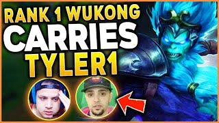 #1 WUKONG WORLD PUTS TYLER1 ON HIS BACK!! REWORKED WUKONG GAMEPLAY - League of Legends