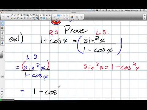 Trigonometric Identities Grade 12 Advanced Functions Lesson 7 4 11 24 12