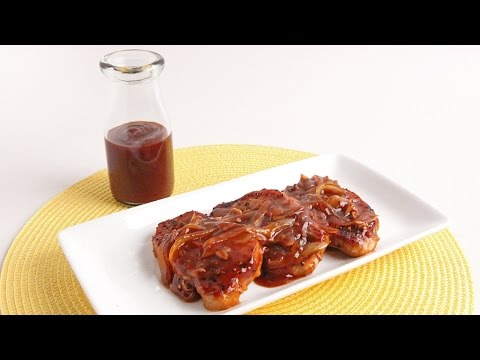 Skillet BBQ Glazed Pork Chops Recipe - Laura Vitale - Laura In The Kitchen Episode 941