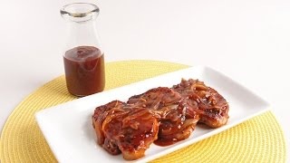 Skillet Bbq Glazed Pork Chops Recipe - Laura Vitale - Laura In The Kitchen Episode 941