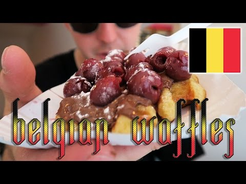 Belgian Waffles traditional belgium food review Utrecht Netherlands