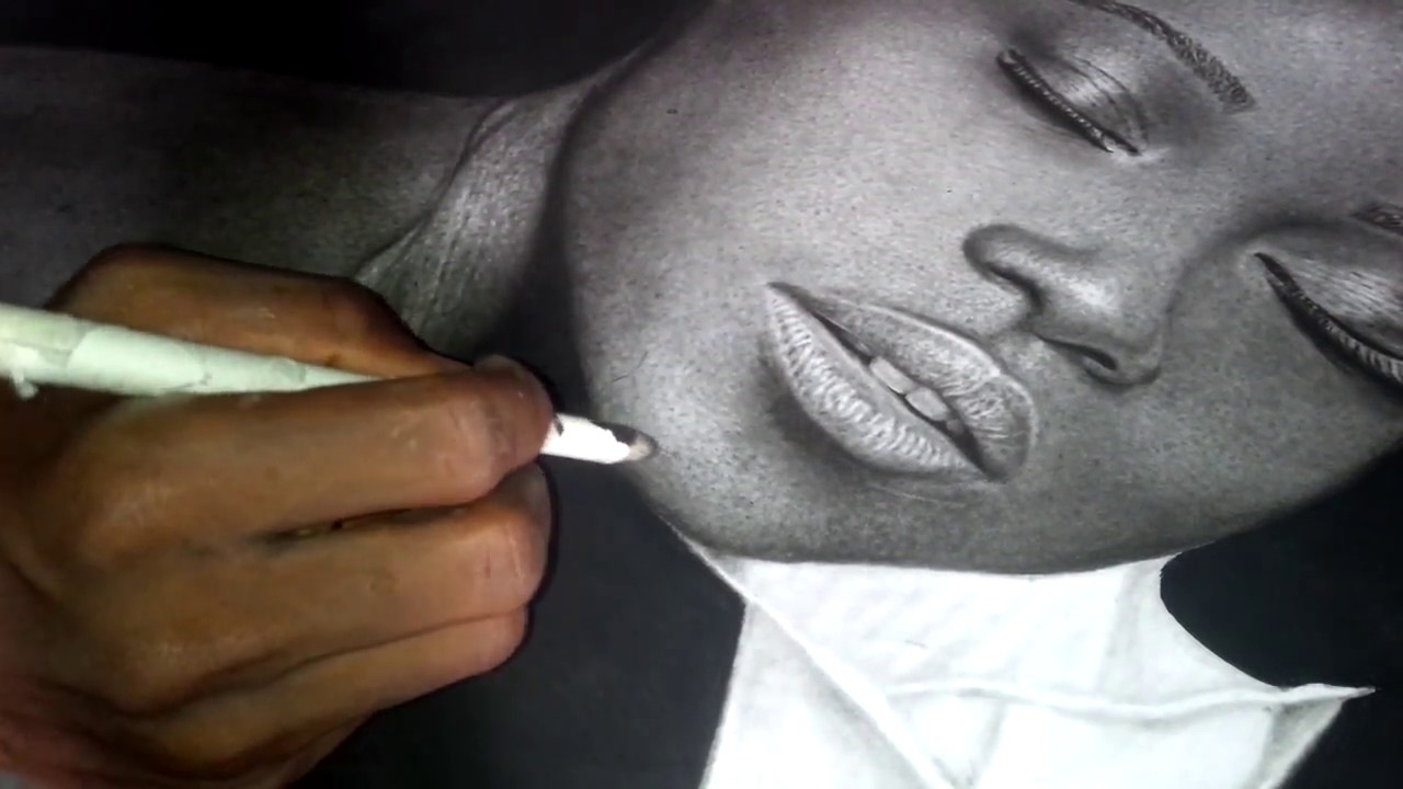 Hyper realistic pencil drawing from nigerian