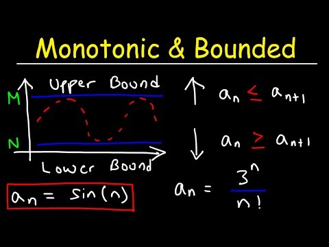 Monotonic Sequences and Bounded Sequences - Calculus 2