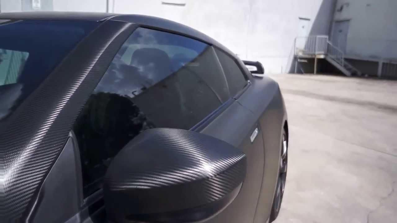 Miami Nissan Gtr 3m Scotchprint Matte Black Vinyl Custom