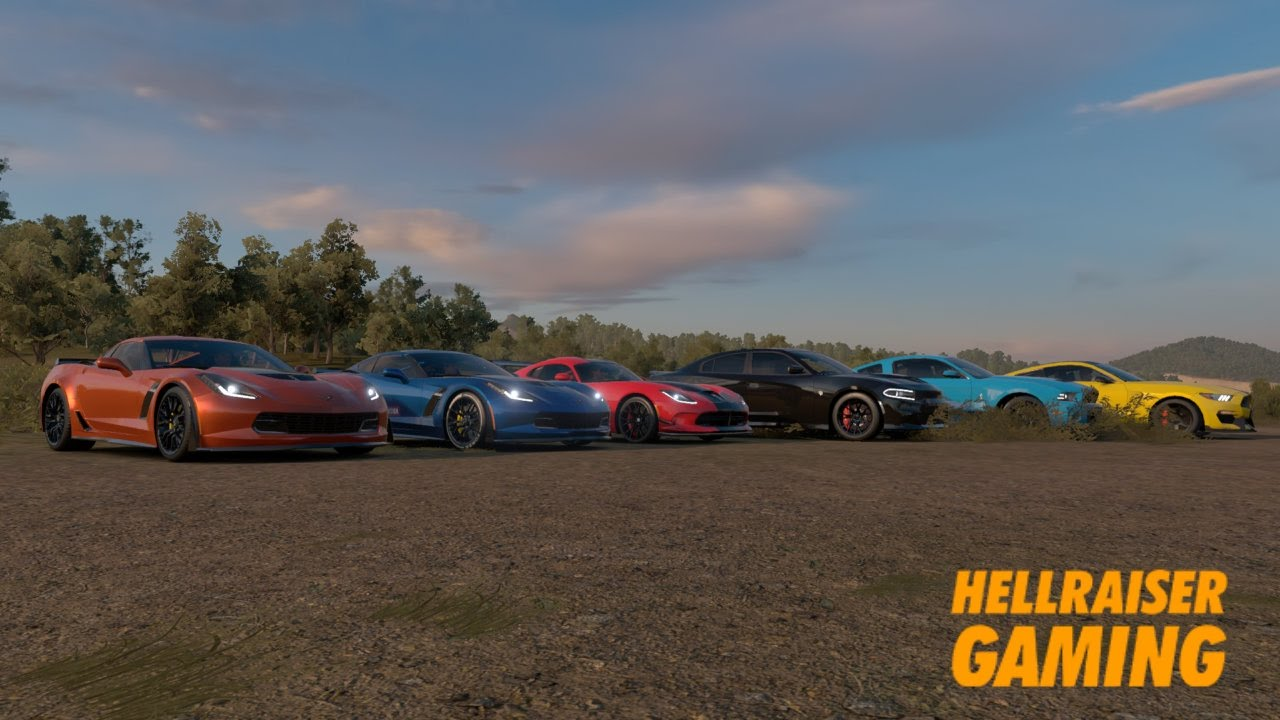 Forza Horizon Stock Muscle Car Show Vipers Vs Corvette