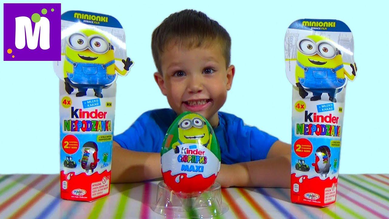 Миньоны Тубы сюрприз Киндер распаковка игрушек Minions Kinder Surprise toys
