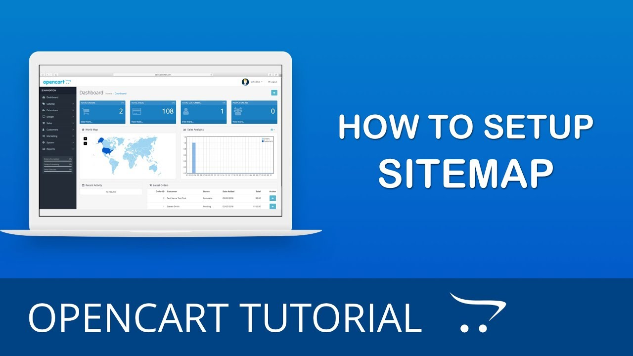 how to setup google sitemap in opencart 3 x youtube