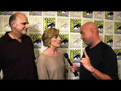 Psych love for Kristen Nelson and Kurt Fuller at Comic Con interview by Chuck the Movieguy