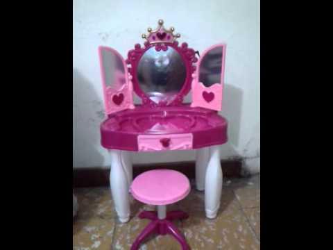 Peinador tocador magico para ni as de princesas luces s doovi - Espejo magico juguete ...