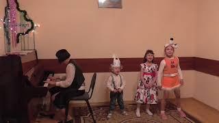 Открытое занятие. Обучение детей игре на фортепиано. 27.12.2017 # 5