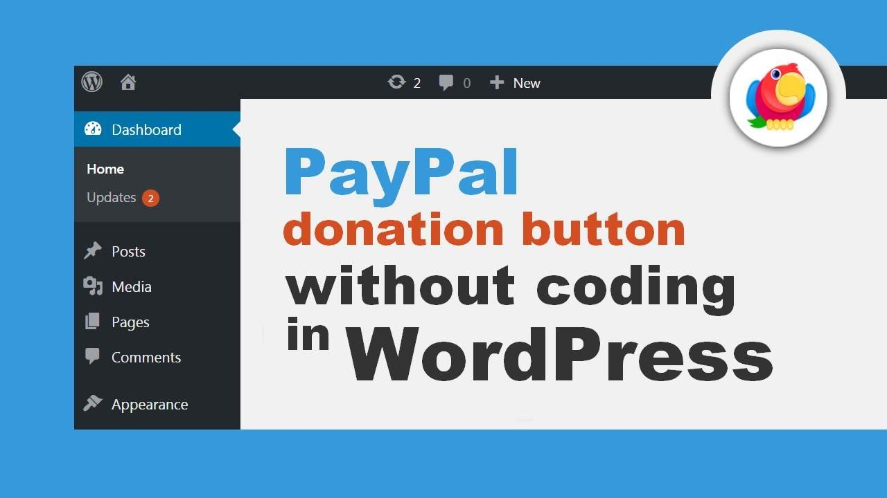 How To Add Paypal Donation Button In Wordpress Without Coding Youtube