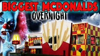 💥24 HOUR OVERNIGHT CHALLENGE AT THE BIGGEST MCDONALDS PLAYPLACE EVER 🌎 MCDONALD'S PLAY PLACE FORT