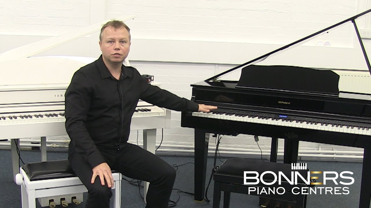 roland gp607 vs yamaha clp565gp digital grand piano comparison youtube. Black Bedroom Furniture Sets. Home Design Ideas