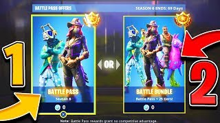 2 EASY ways to unlock Free Season 6 Battle Pass in Fortnite.. (New Season 6 Battle Pass Skins)