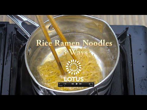 Three Ways to Enjoy our Rice Ramen Noodles