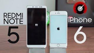 Redmi Note 5 đối đầu iPhone 6: liệu có bất ngờ?