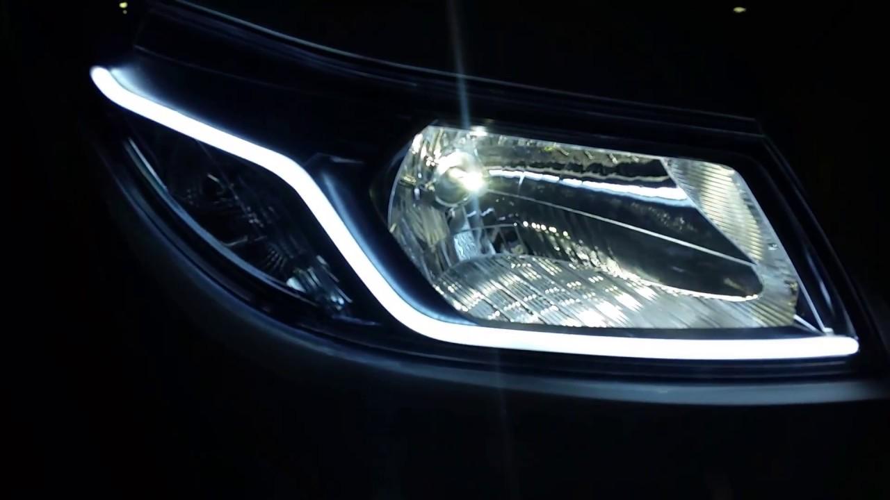 Salones Con Aparador Y Vitrina ~ Chevrolet Prisma Farol Barra Led Lanterna YouTube