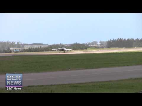 Royal Air Force Tornado Landing In Bermuda, April 9 2016