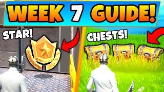 Fortnite WEEK 7 CHALLENGES! - Secret Battle Star, Secret Chests (Battle Royale Season 9 Guide)