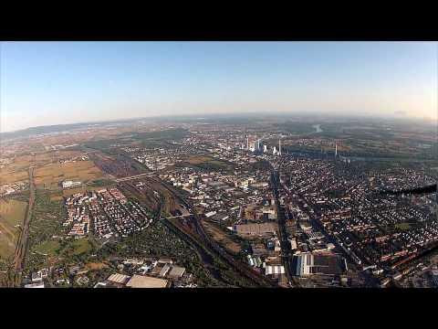 Training flight over Mannheim (EDFM)