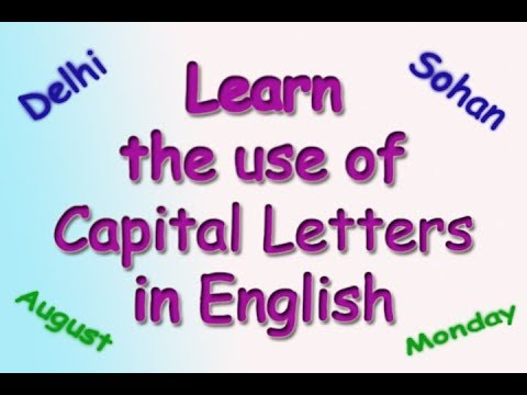 English Learning - Use of capital letters in English