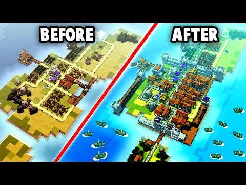 BEFORE and AFTER the RAID!  Epic Rebuild!  (Kingdoms and Castles Gameplay - New Update)
