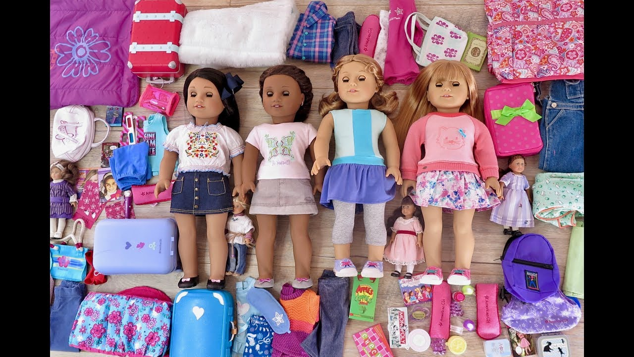 packing for an american girl doll sleepover - Ameeican Girl Doll