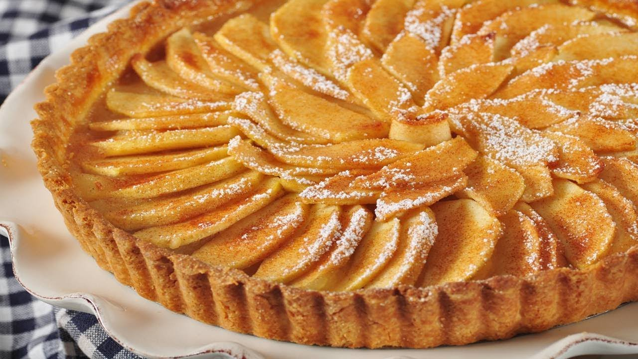 French Apple Tart Recipe Joyofbaking Com Video Recipe