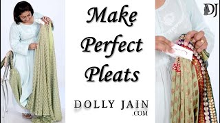 Learn the trick to make Perfect Pleats with SAREE PEGS |Dolly Jain|