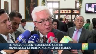 El nuevo gerente aseguró que se mantendrá la independencia del Banco