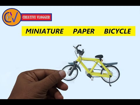 DIY Miniature Mountain Bike (Made out of Paper & Cardboard)2018