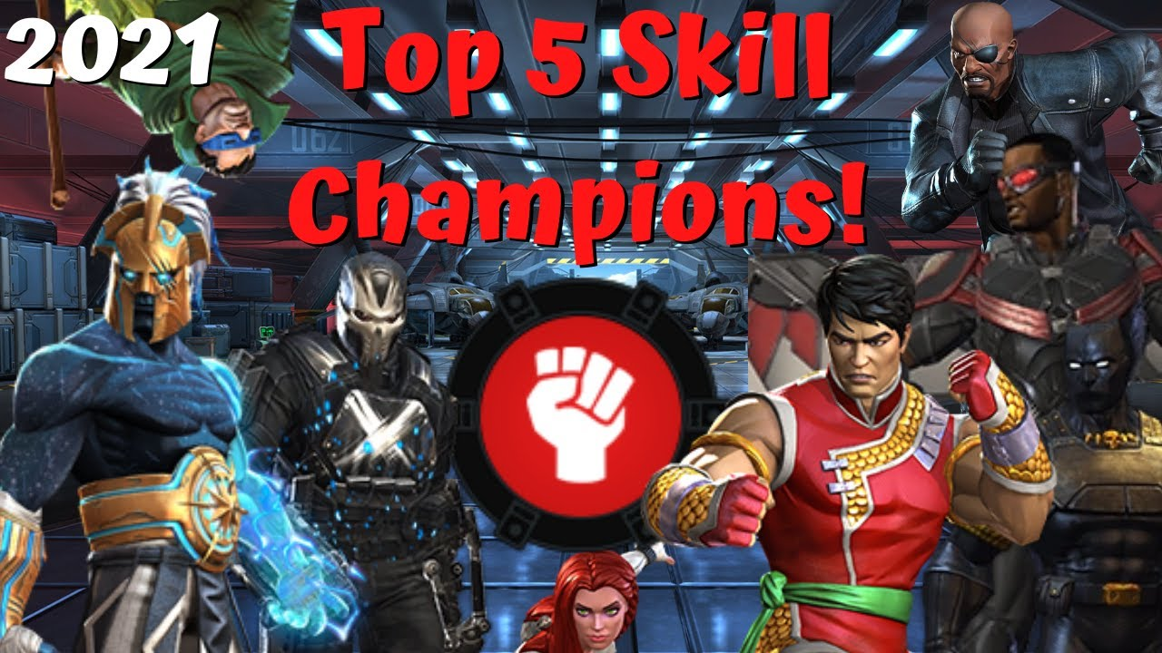 Top 5 Best Skill Champs In MCOC! Ranked! My Opinion! - Marvel Contest of Champions