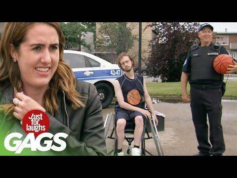 Прикол с инвалидом в коляске