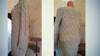 Зимнее платье спицами