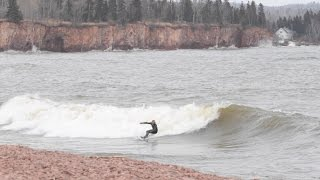 MY FIRST TIME GREAT LAKES SURFING