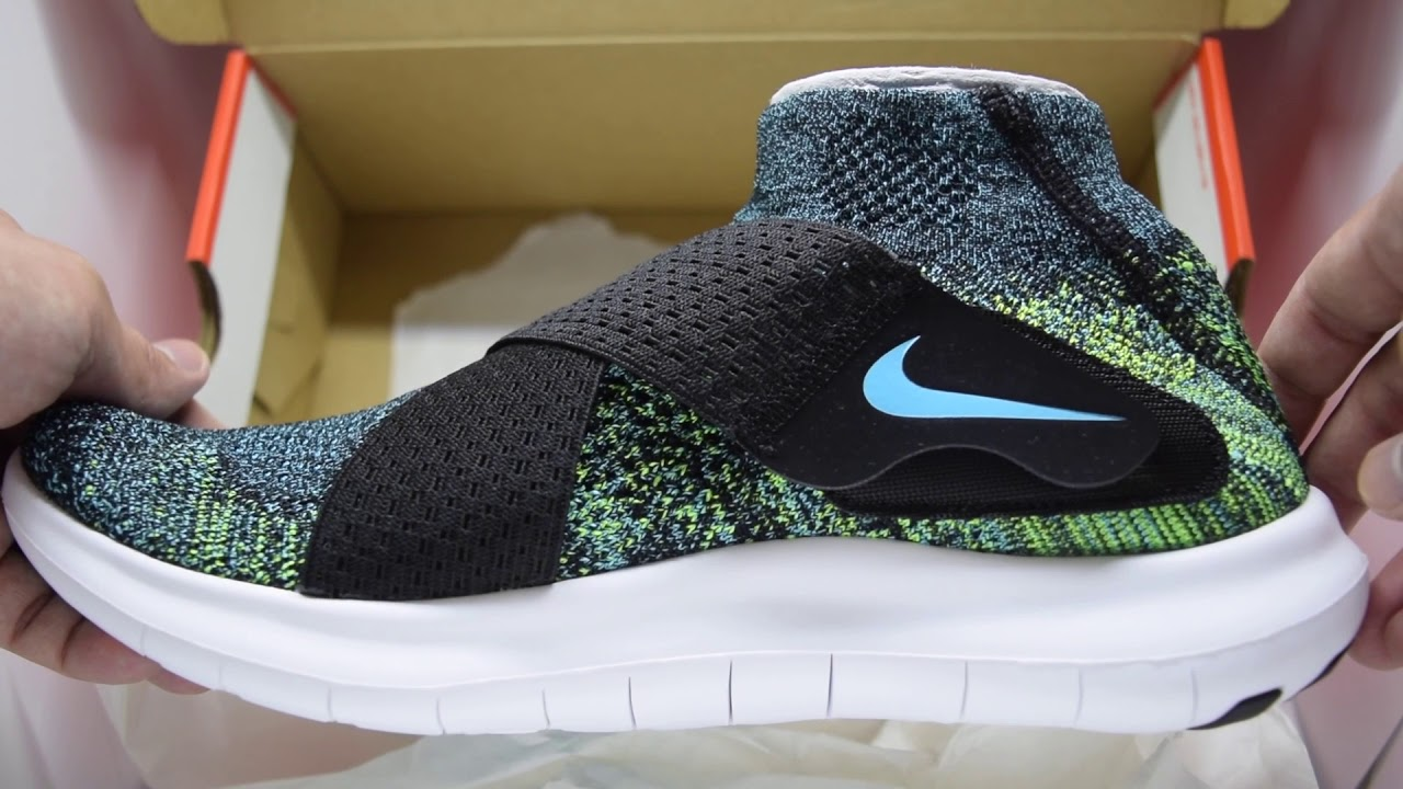 acf34c1e6e4d ... where can i buy nike free rn motion flyknit 2017 black chlorine blue  volt white unboxing