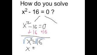 Solve x^2 - 16 = 0