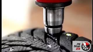 Ошиповка зимних шин ремонтными шипами.(, 2017-11-10T09:28:26.000Z)