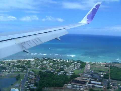 Landing at Honolulu international airport