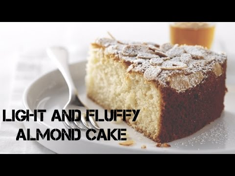 Light And Fluffy Almond Cake (From Scratch Almond Cake)