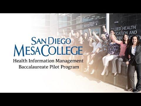 San Diego Mesa College - Health Information Management Baccalaureate Program
