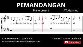 not balok pemandangan - tutorial piano tingkat 1 - notasi lagu pemandangan lagu anak indonesia