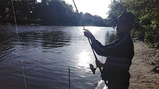 Крутая  рыбалка на Теплом канале.