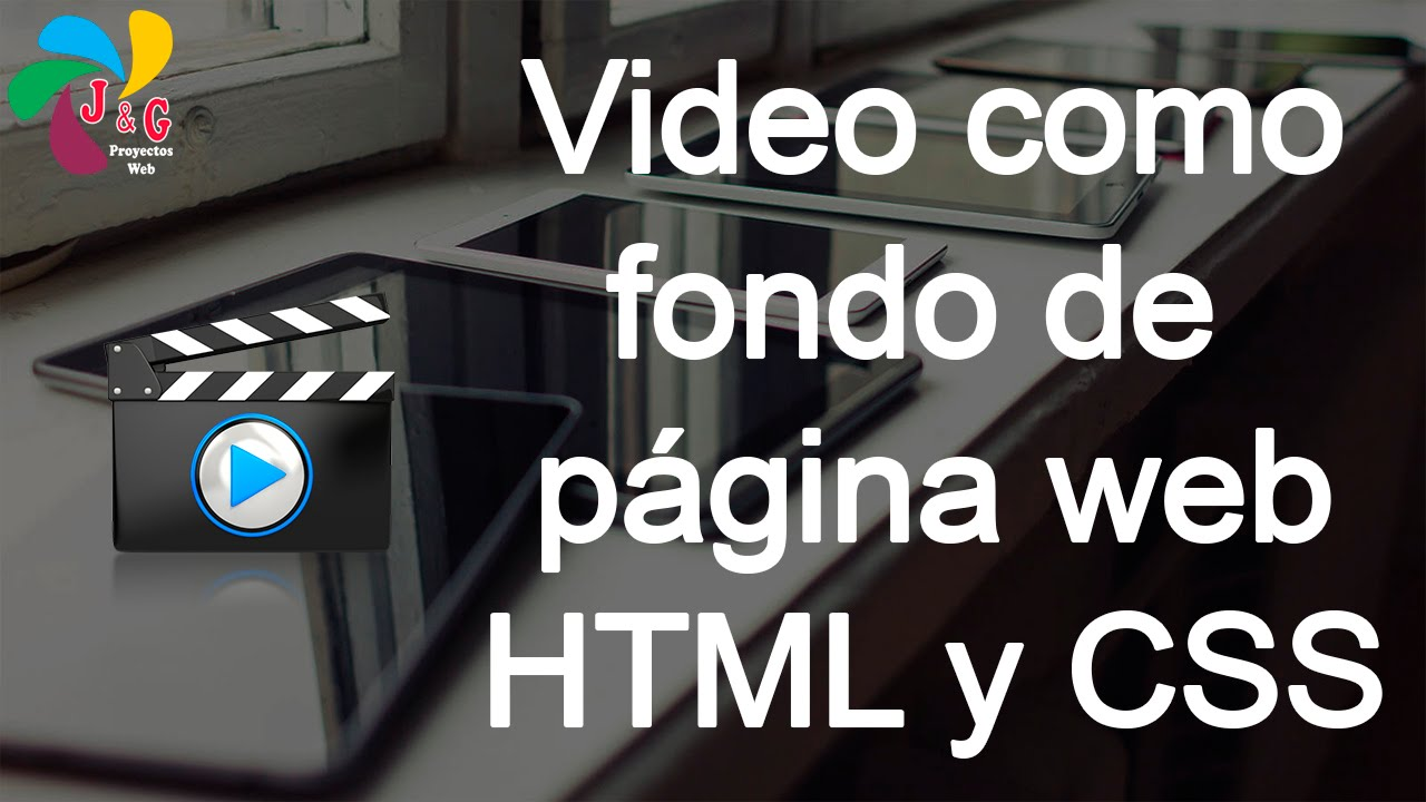 Colocar video como fondo de página web con HTML y CSS - YouTube