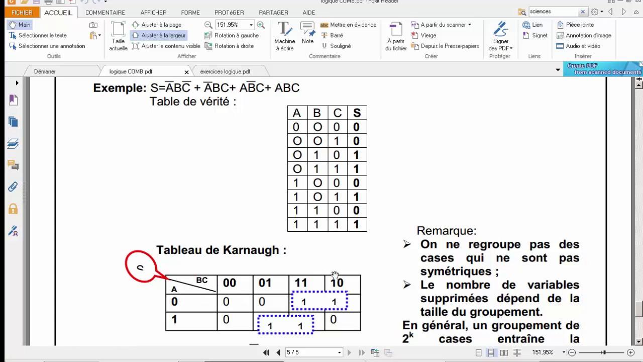 Cours et exercices de Logique Combinatoire, équations ...