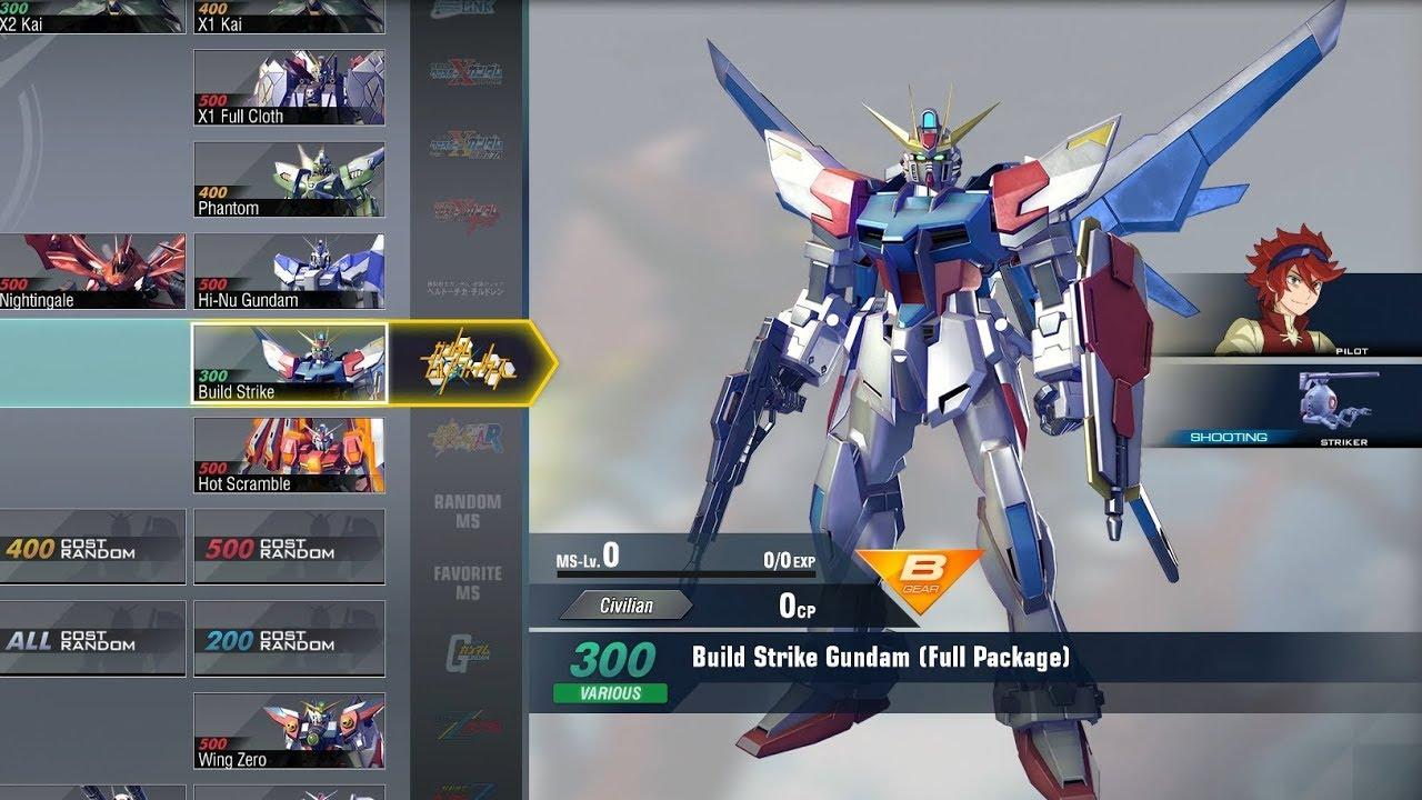 Gundam Versus Combo Guide Build Strike Gundam Full