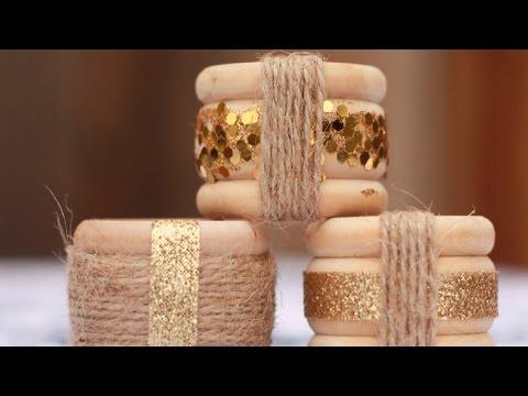 Create Simple and Elegant Napkin Rings - DIY Home - Guidecentral