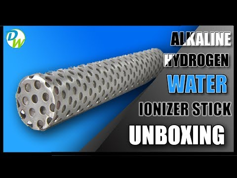 Review: Alkaline Water Ionizer Stick Unboxing And Demo