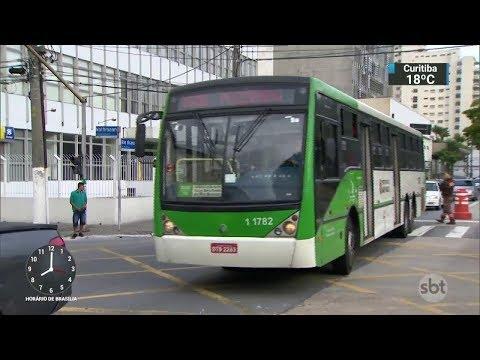 Diminuição de linhas de ônibus em São Paulo preocupa passageiros   SBT Brasil (07/03/18)