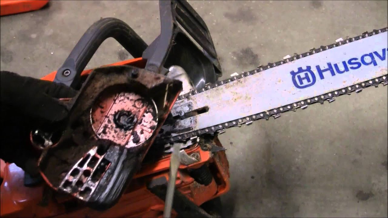 How to change the husqvarna 450 chainsaw chain youtube greentooth